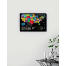 Скретч-карта The Travel Map of the USA Black