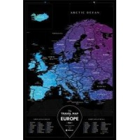 Скретч-карта Travel Map Black Europe