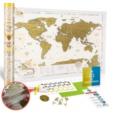Скретч-карта Discovery Map World Gold