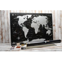 Скретч-карта світу My gift My Map Black Edition Silver